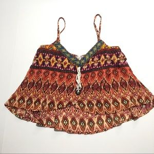 Band of Gypsies • NWT Crop Tribal Print Tank